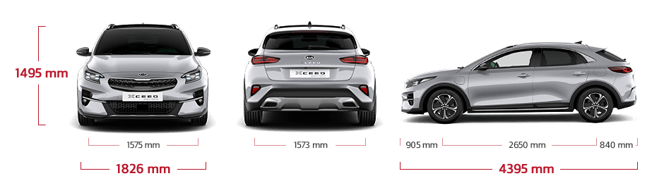 kia xceed plug-in hybrid dimensions